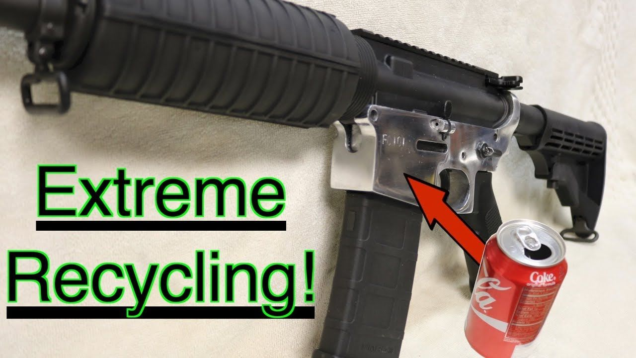 Making an AR15 from soda cans, MAIN VIDEO re-post with bonus footage