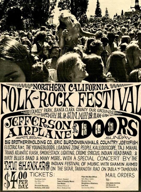 Northern California Folk-Rock Festival (1968)jpg   Rock Music ...