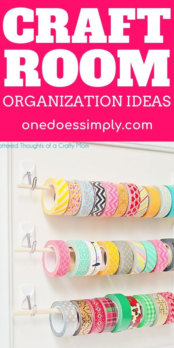 Get your craft supplies organized beautifully using these fantastic hacks  DIY home organization hacks