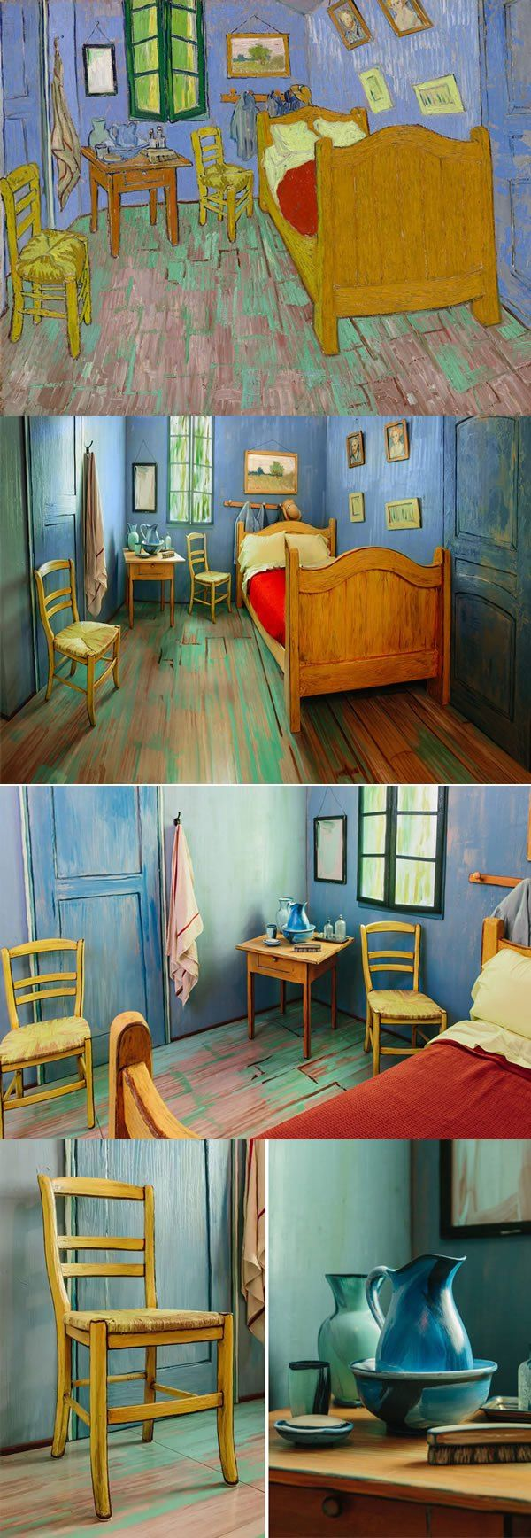 Van Gogh's Bedroom Becomes Real And Only For Rent On