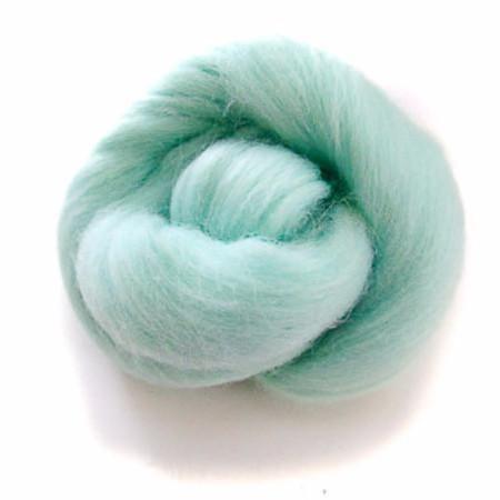 Mint Green Merino Wool Top Roving Super Chunky Yarn Super Chunky