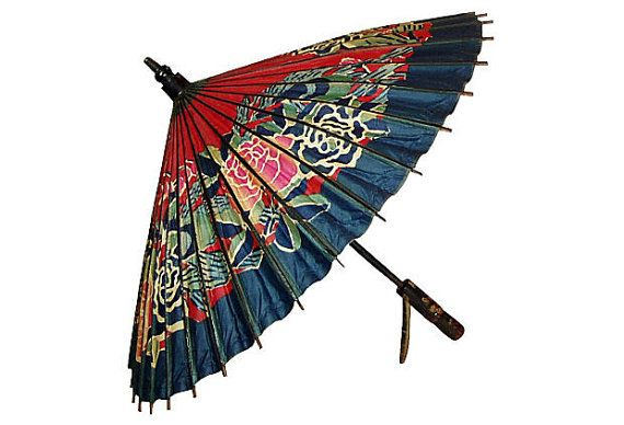 732c666f3 Vintage Japanese Paper Parasol Umbrella by wrightsan on Etsy