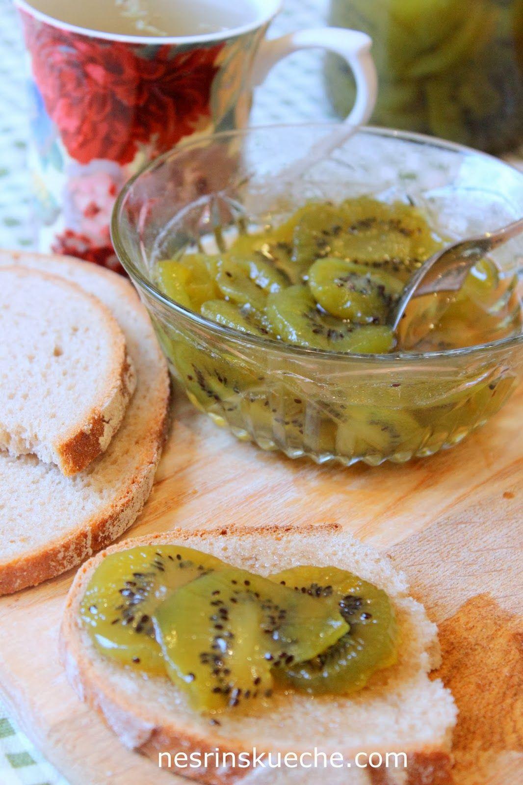 Kuchen mit kiwi marmelade