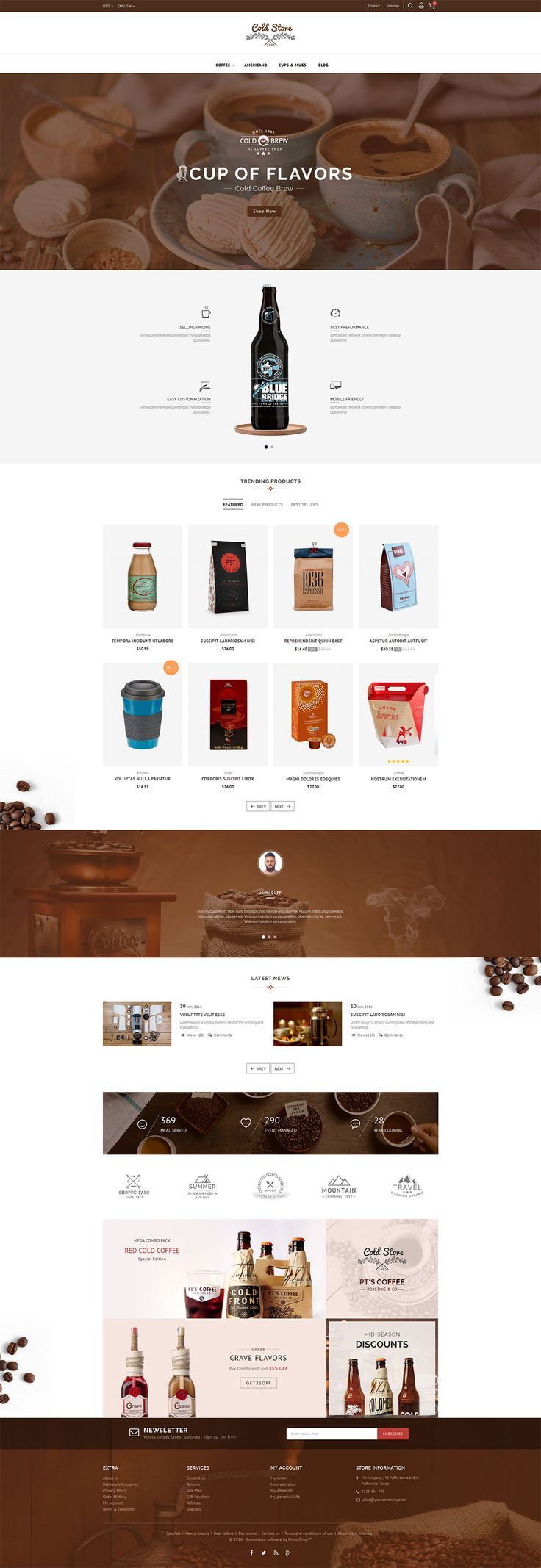 ecommerce coffee drinks wine food bakery organic restaurant - Multi Restaurant Design