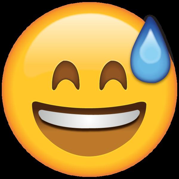 Smiling With Sweat Emoji Emoji Laughing Emoji Emoji Stickers Iphone