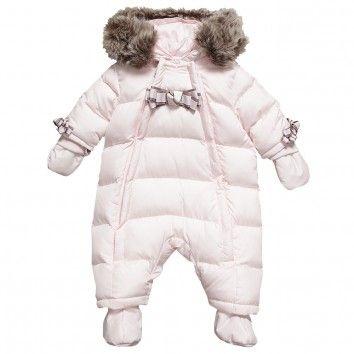 843dd8c4230a Tartine et Chocolat Baby Girls Pink Padded Snowsuit at Childrensalon ...
