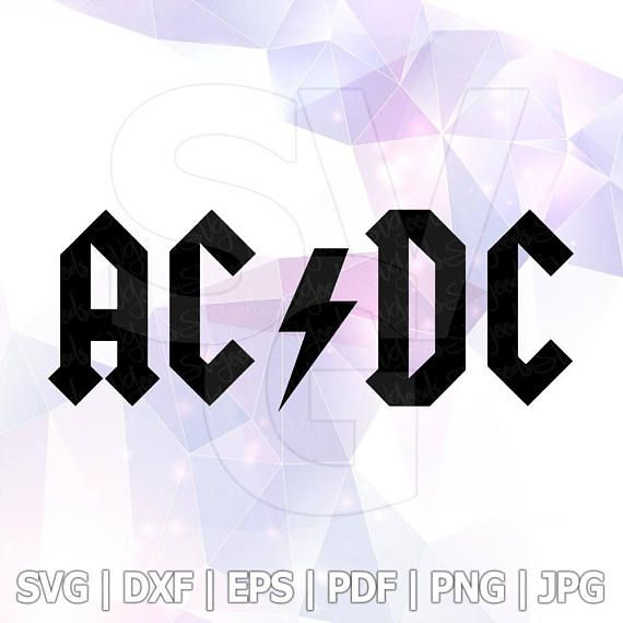 acdc heavy metal logo svg vector cut file cricut design silhouette rh pinterest com