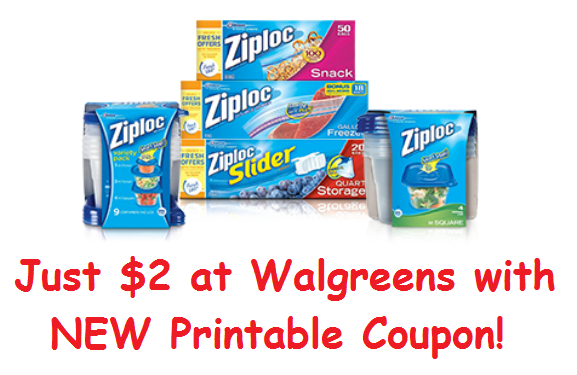 photo regarding Ziploc Printable Coupons titled 2 Fresh Ziploc Discount coupons ($2 At Walgreens Future 7 days!) Fresh