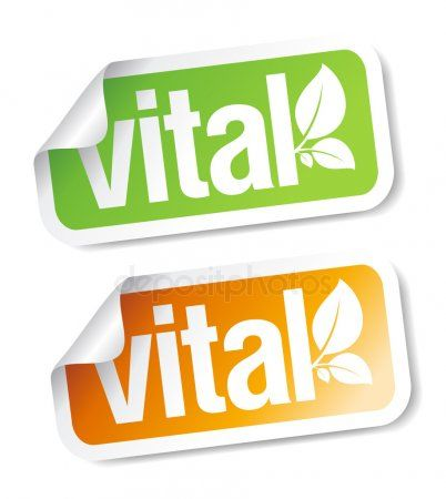 Vital stickers  Stock Vector