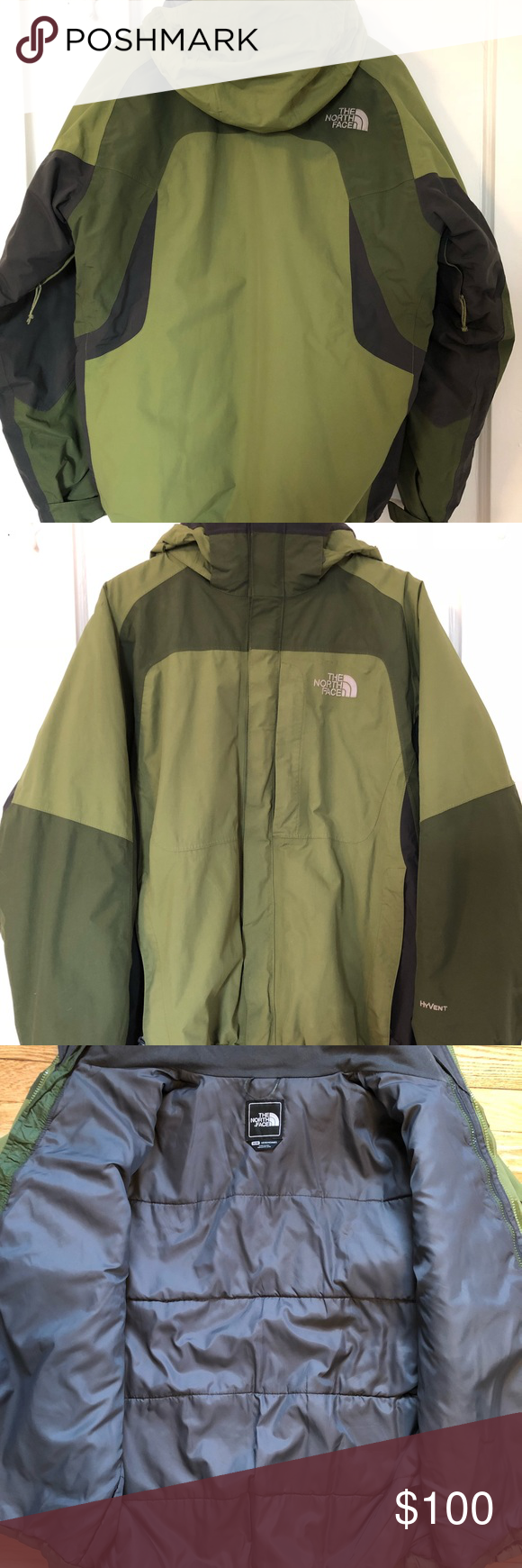 The North Face Hyvent 2 1 Jacket Green Green Jacket Green North Face Jacket North Face Jacket [ 1740 x 580 Pixel ]
