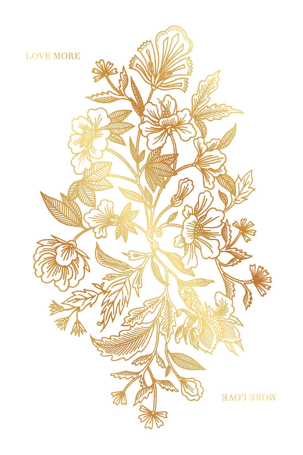 91a12d90ae5c50 Carte de voeux Love more (dorure) de l'Atelier Rosemood #voeux ...