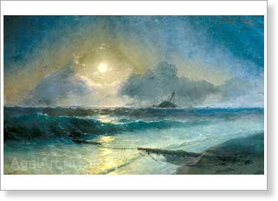 Moonrise. By Aivazovsky
