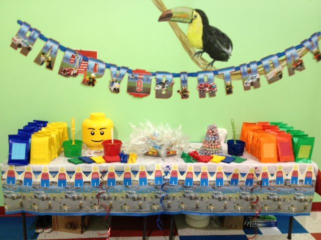 My Sweet Boy S 9 Year Old Birthday Party We Did A Lego Theme Boy Birthday Parties Backyard Camping Birthday Party Camping Birthday Party Sleepover