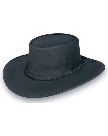 405f95c13bf752 Minnetonka Foldable Leather Hat   Cowboy hats   Leather hats, Hats ...