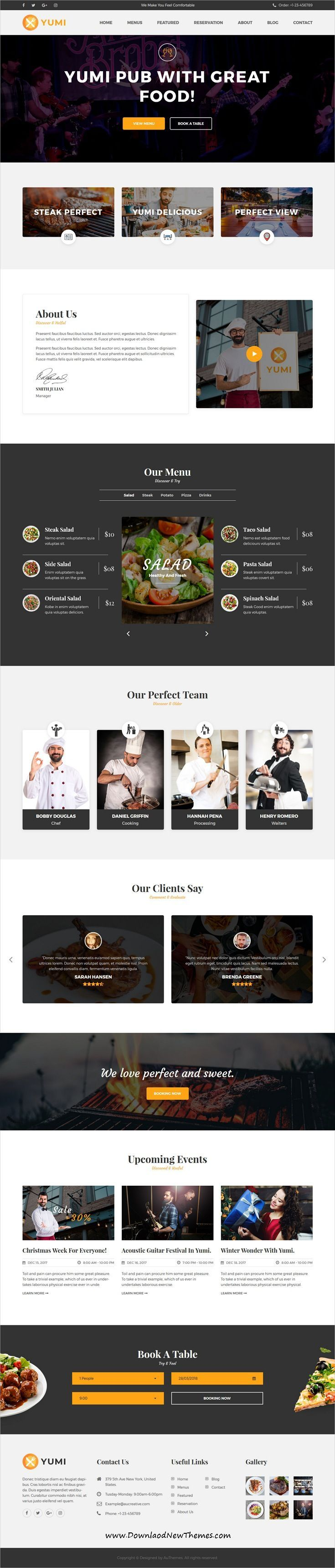 yumi is clean and modern design 3in1 responsive html5 bootstrap