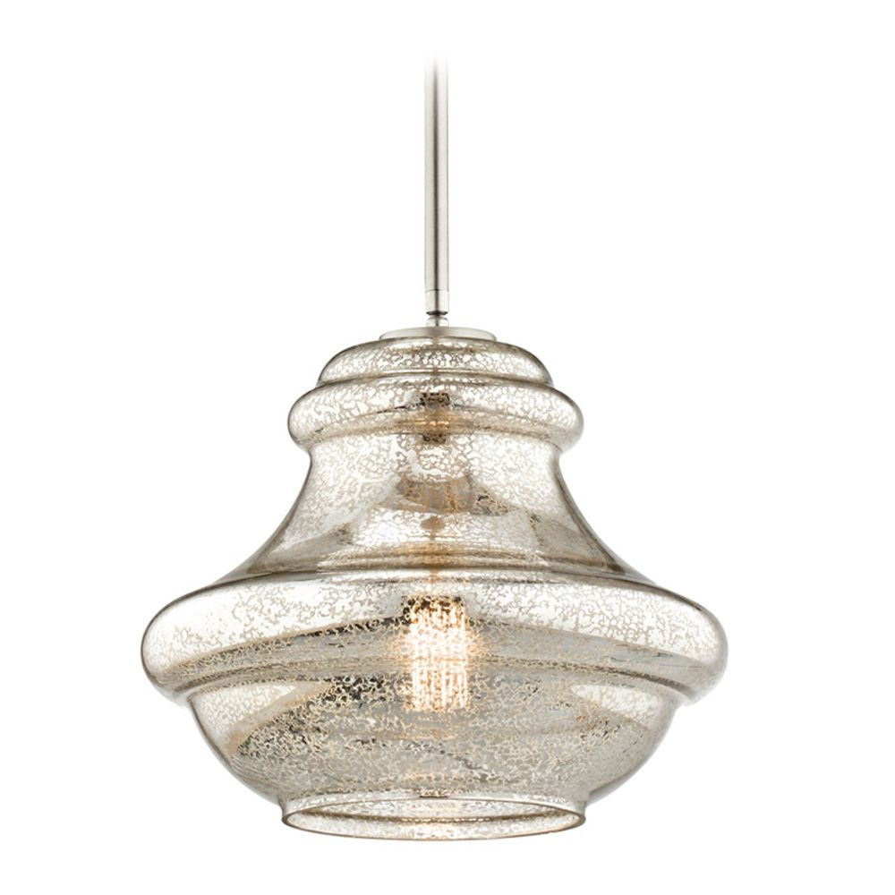 Great Kichler Lighting Everly Brushed Nickel Pendant Light With Urn Shade