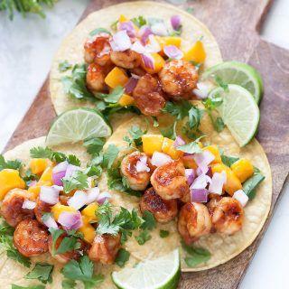 Jerk Shrimp Taco Recipe with Mango Salsa - A Sassy Spoon