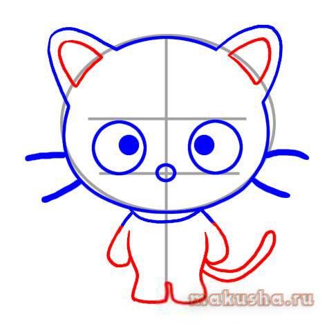 картинки котят для срисовки легкие