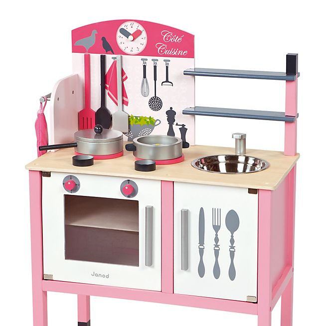 Maxi cuisine cuisine en bois rose pour enfant enfants pinterest enfant cuisine bois et for Cuisine en rose