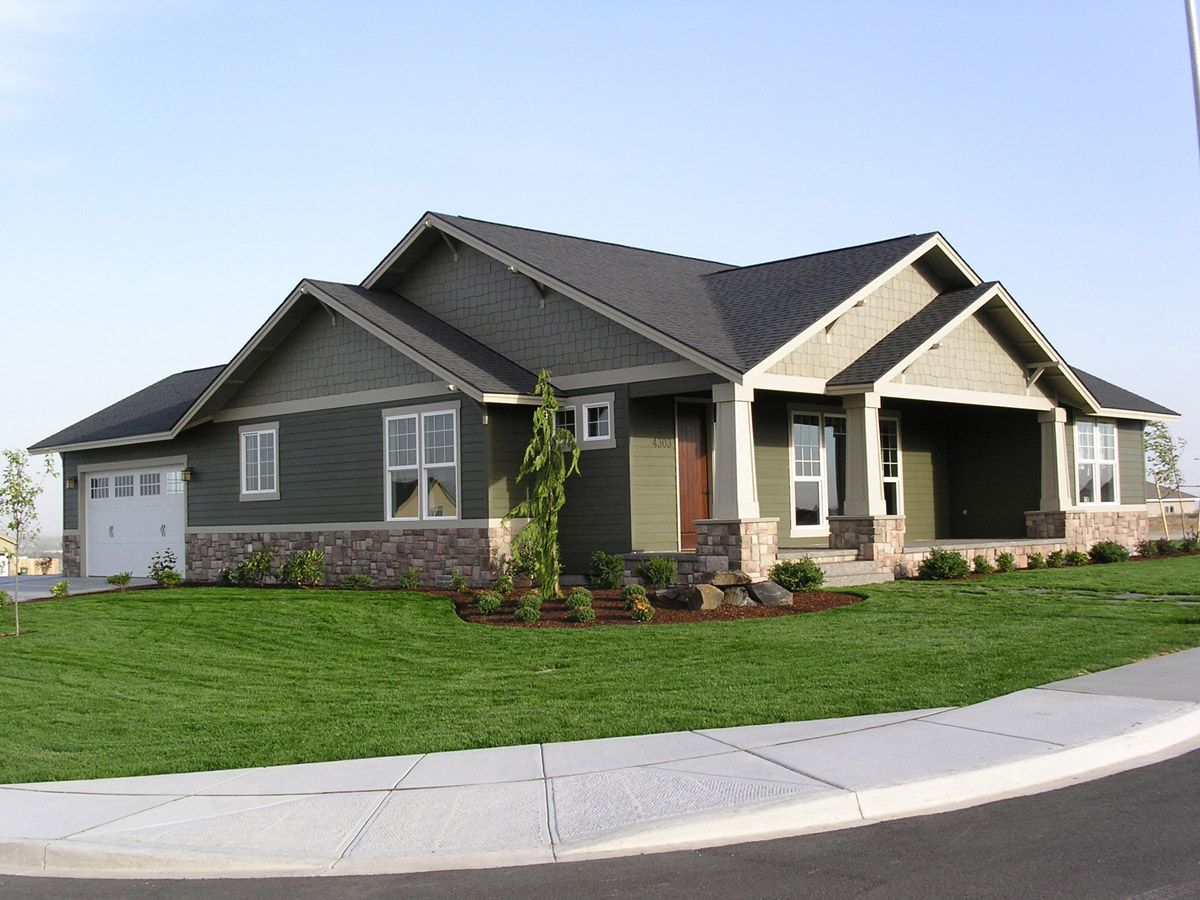Mascord Top 10 Single Story Home Plans Craftsman House Plans Ranch Style House Plans Craftsman Style House Plans