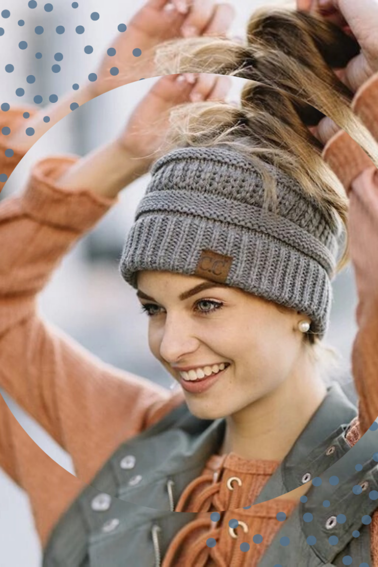 The Ponytail Beanie In winters give yourself a complimentary look with Beanie It is made of pure veganfriendly yarn made of fibers You guys will definitely like this in 2...
