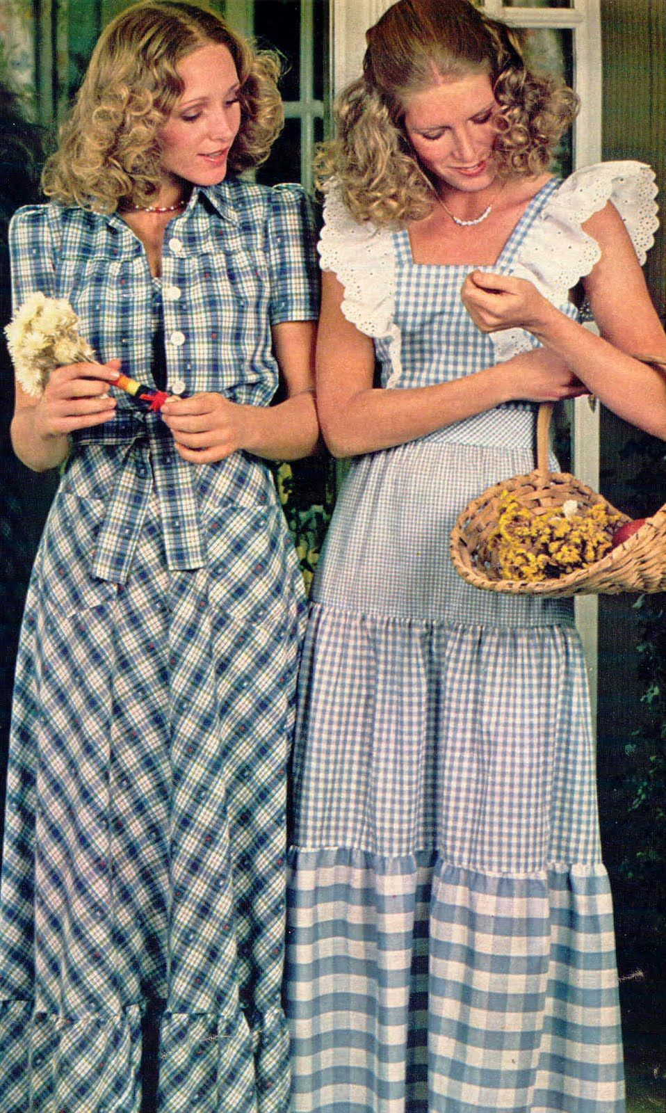1970s Seventeen Magazine It S That Bohemian Things Again: The Continuing Saga Of Gingham Plaid -- Big In The 50s