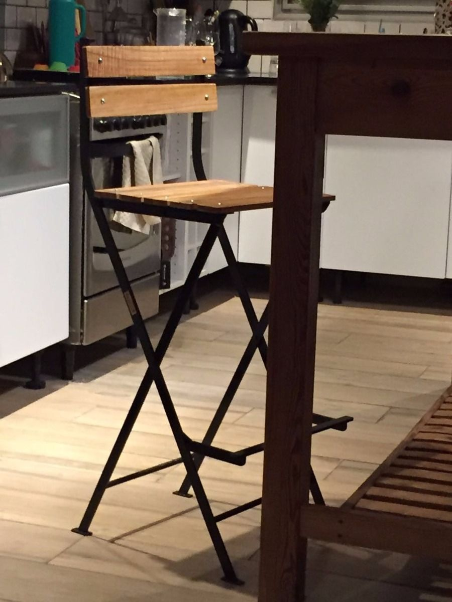 Banqueta taburete silla bar alta con respaldo plegable en mercadolibre - Taburete bar plegable ...