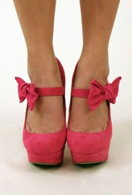 Lacey Bow Platform Heel $17.50