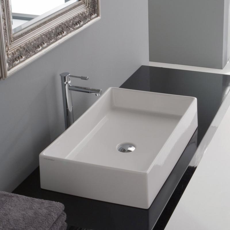Scarabeo Teorema Countertop Basin White Badezimmer Waschbecken