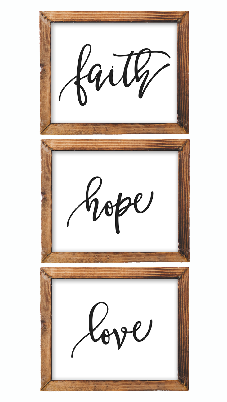 Printable Wall Art Faith Hope Love printable Bible Nursery