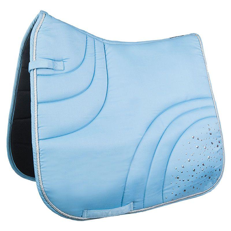 Hkm Sparkle Saddle Pad Light Blue Saddle Pads Horse Saddle Pads Saddle