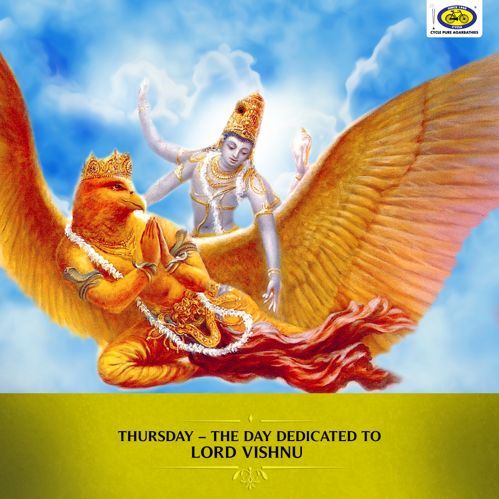 According To Hindu Mythology Thursdays Are Dedicated To Lord Vishnu Today Let S Take A Look At How Garuda Became The Mo God Pictures Hindu Mythology Deities
