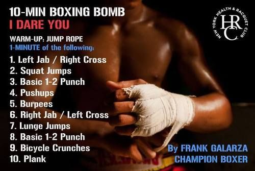 10 Minute Boxing Training Home Boxing Workout Boxing Workout Boxing Workout Plan