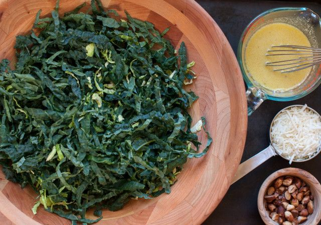 kale salad with brussels sprouts and toasted almonds – Marin Mama Cooks