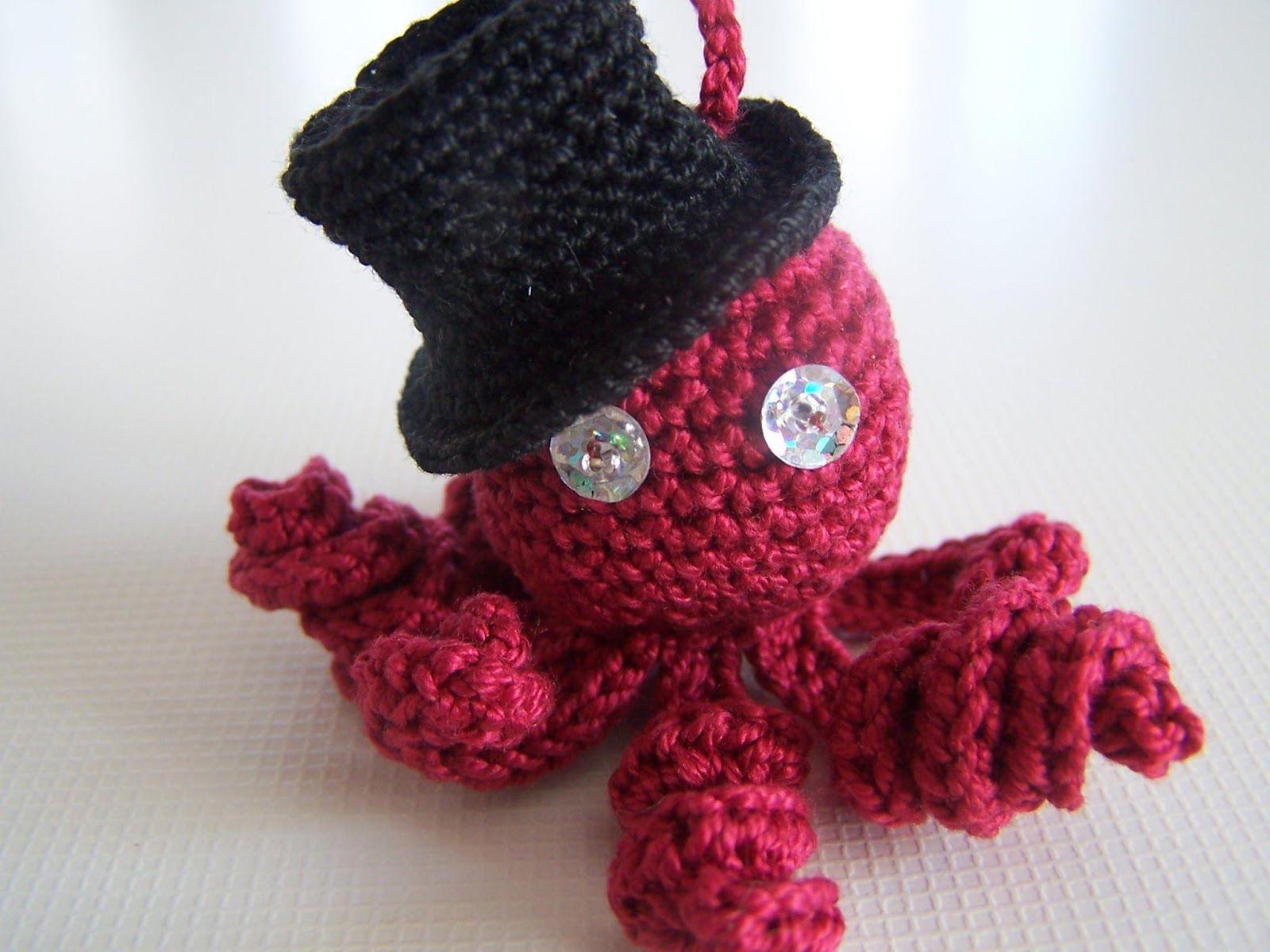 Annasimplecrochet porte clef pieuvre crochet porte clef clefs et crochet - Porte cle crochet ...
