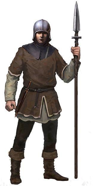 Nas guerras medievais, muitos dos soldados recrutados eram camponeses que foram convocados para a guerra