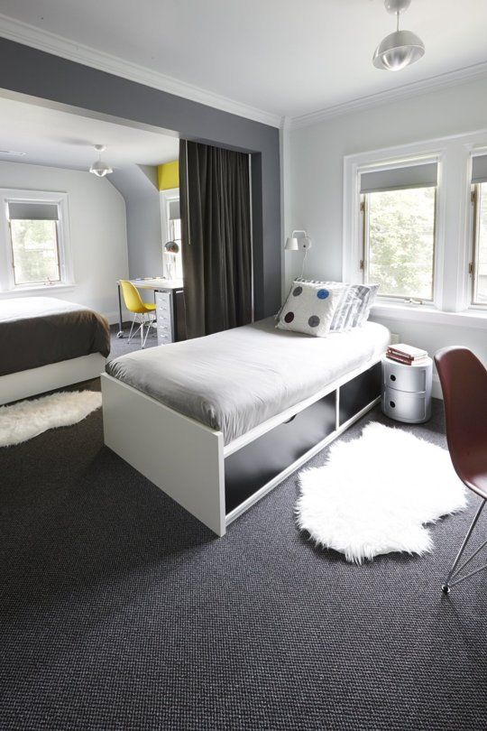 One Room Two Brothers A Shared Bedroom In Toronto Small Room Bedroom Apartment Interior Design Bedroom Interior