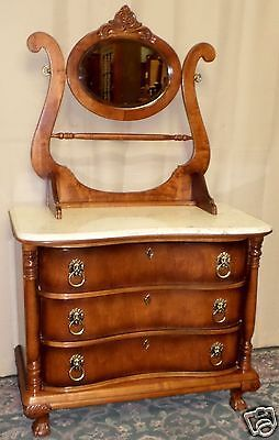 New Antique Washstand with Mirror and towel Bar