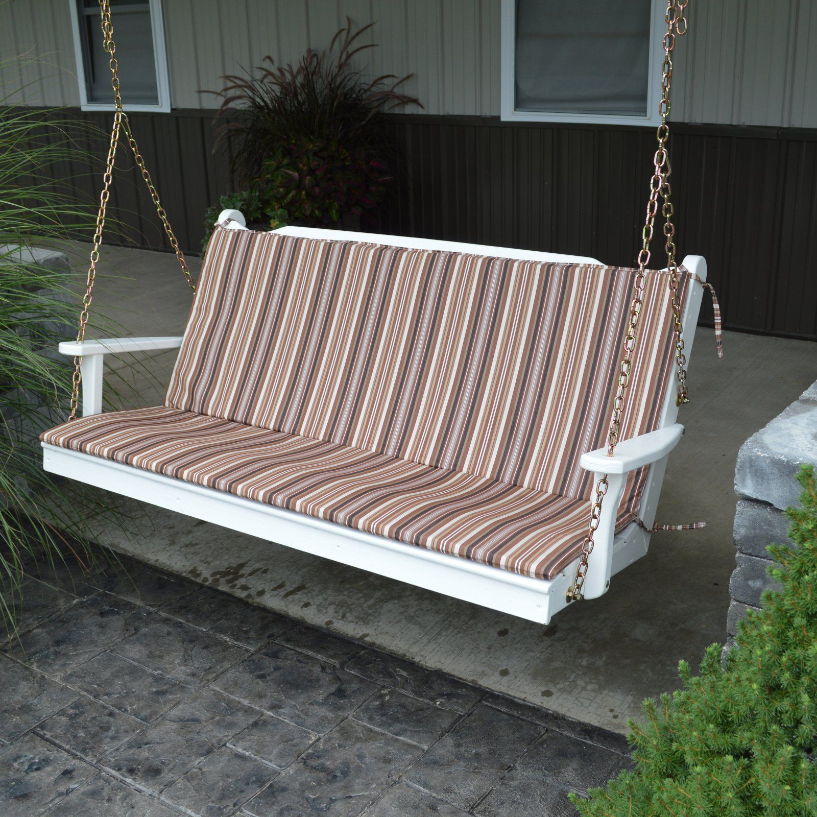 A L Furniture Sundown Agora Hinged Seat And Back Full Bench Cushion In 2021 Porch Swing Cushions Outdoor Cushions Porch Swing Porch swing cushions with back