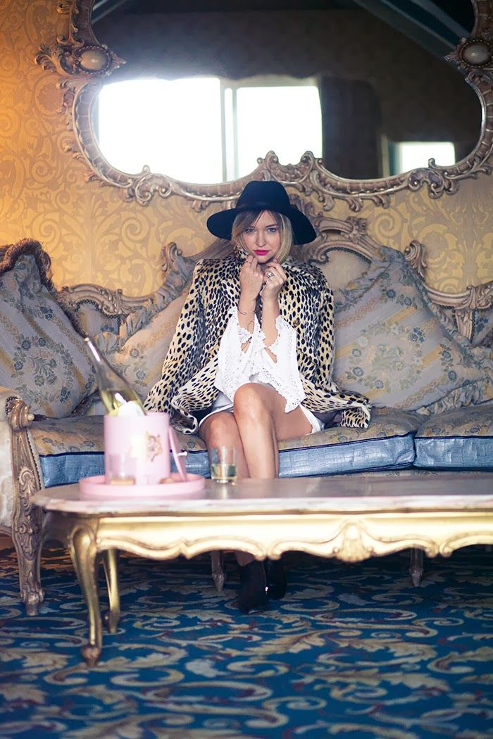 Late Afternoon, stone cold fox, Madonna Inn, leopard coat