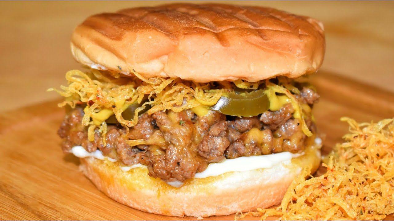 ساندويش فيلادلفيا اللحم المفروم بالجبنة تاكل اصابعك وراه Youtube Food Videos Food Sandwiches