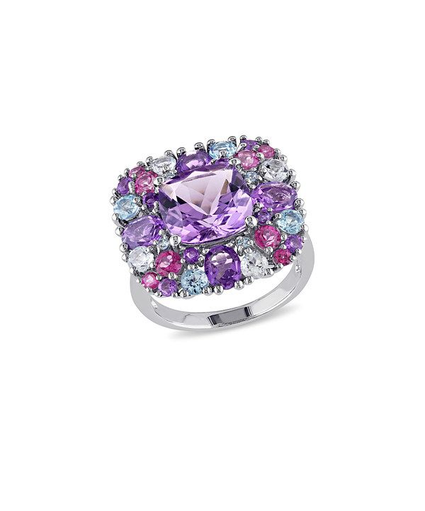 Look at this Pink & Blue Gemstone Ring on #zulily today!