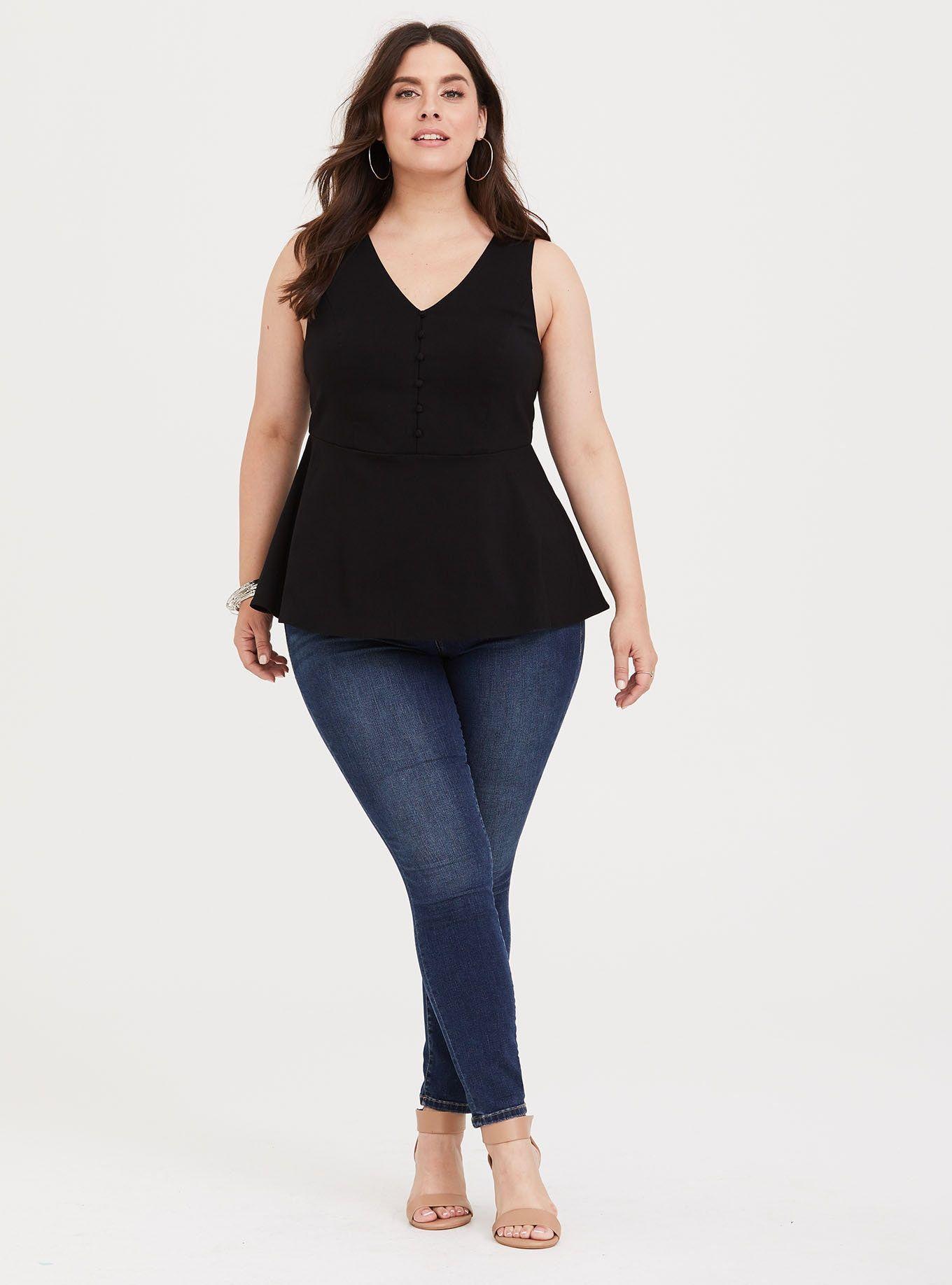 black tank dress plus size