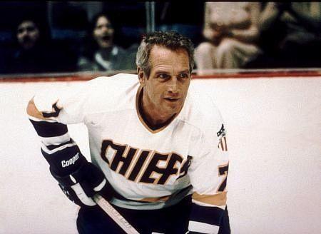 Charleston Chiefs Best Hockey Movie Ever Paul Newman Slap Shot Fantasy Baseball
