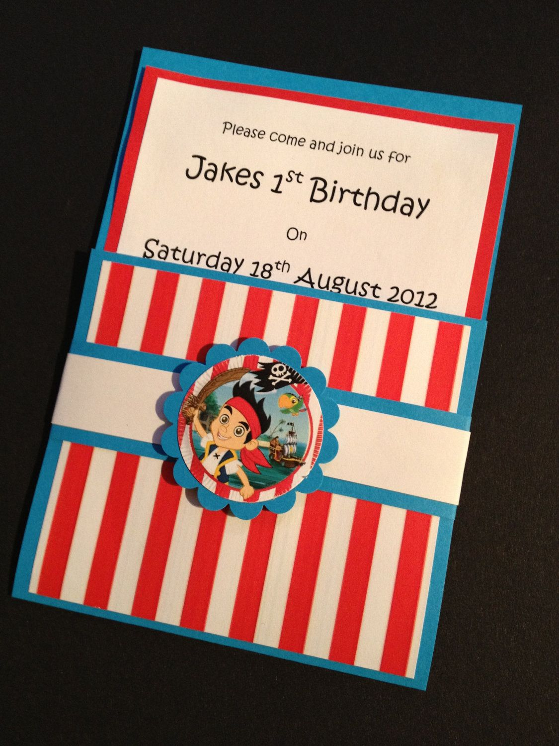 Handmade Jake and the Neverland Pirates Party Invitations ...