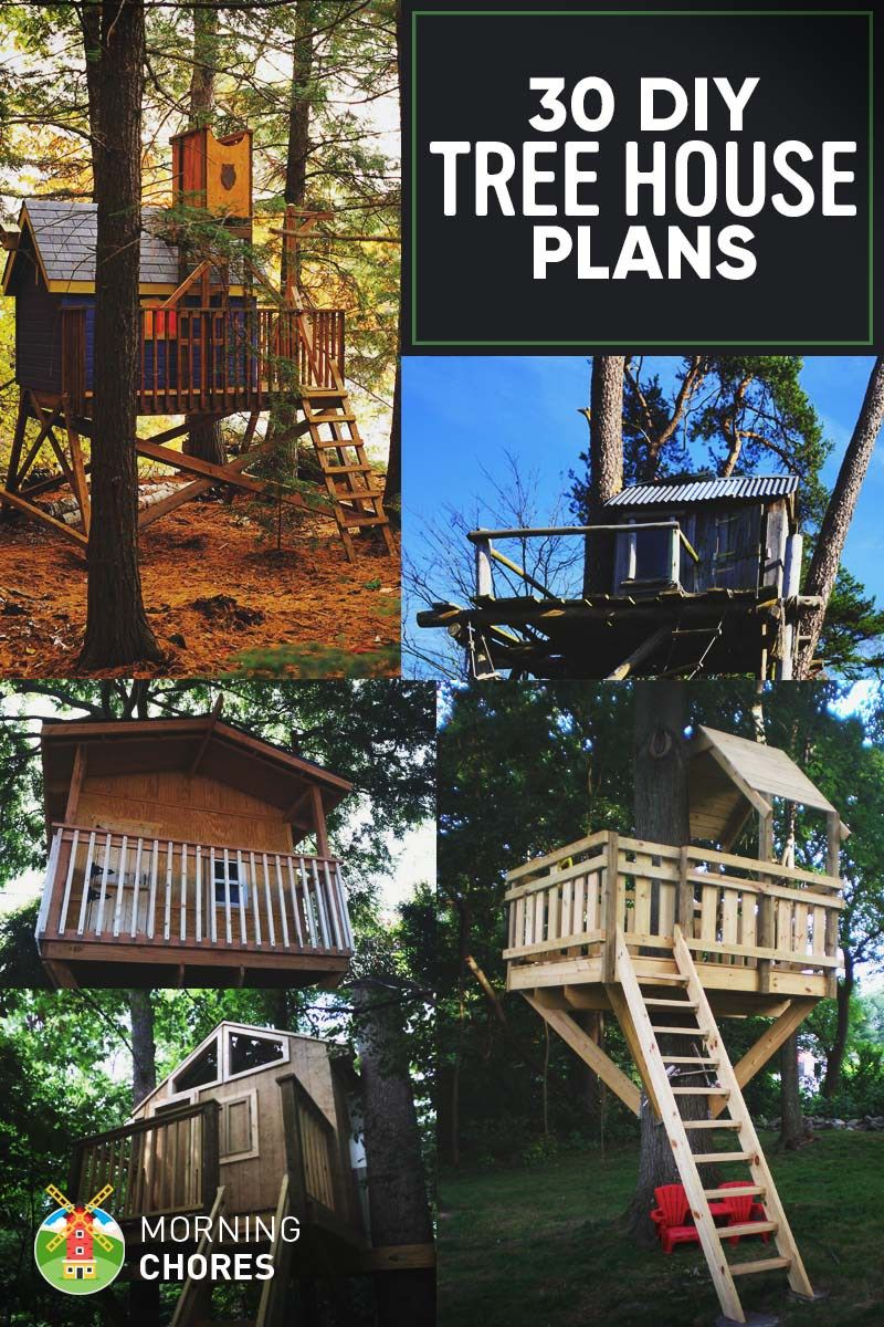 30 Free Diy Tree House Plans To Make Your Childhood Or Adulthood Dream A Reality Tree House Plans Tree House Diy Tree House