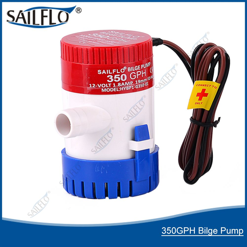 Electric DC 12V Water Marine 350GPH Bilge Pump For Submersible Accessories