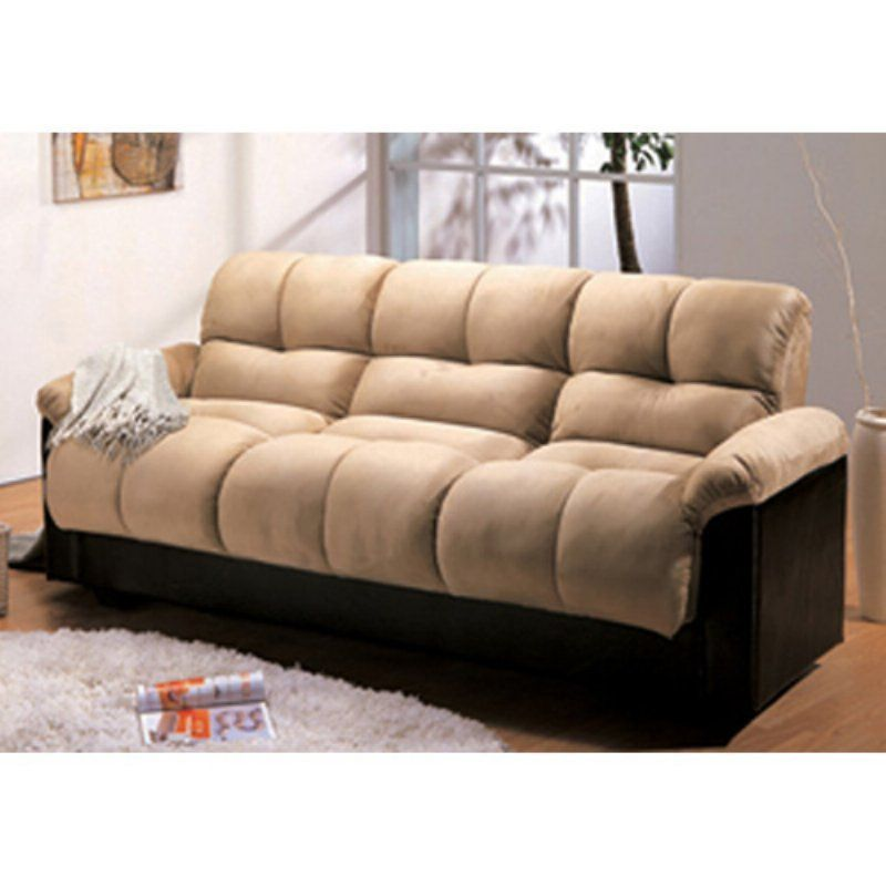 Milton Green London Storage Futon Sofa Bed With Champion Fabric Beige 7538bg