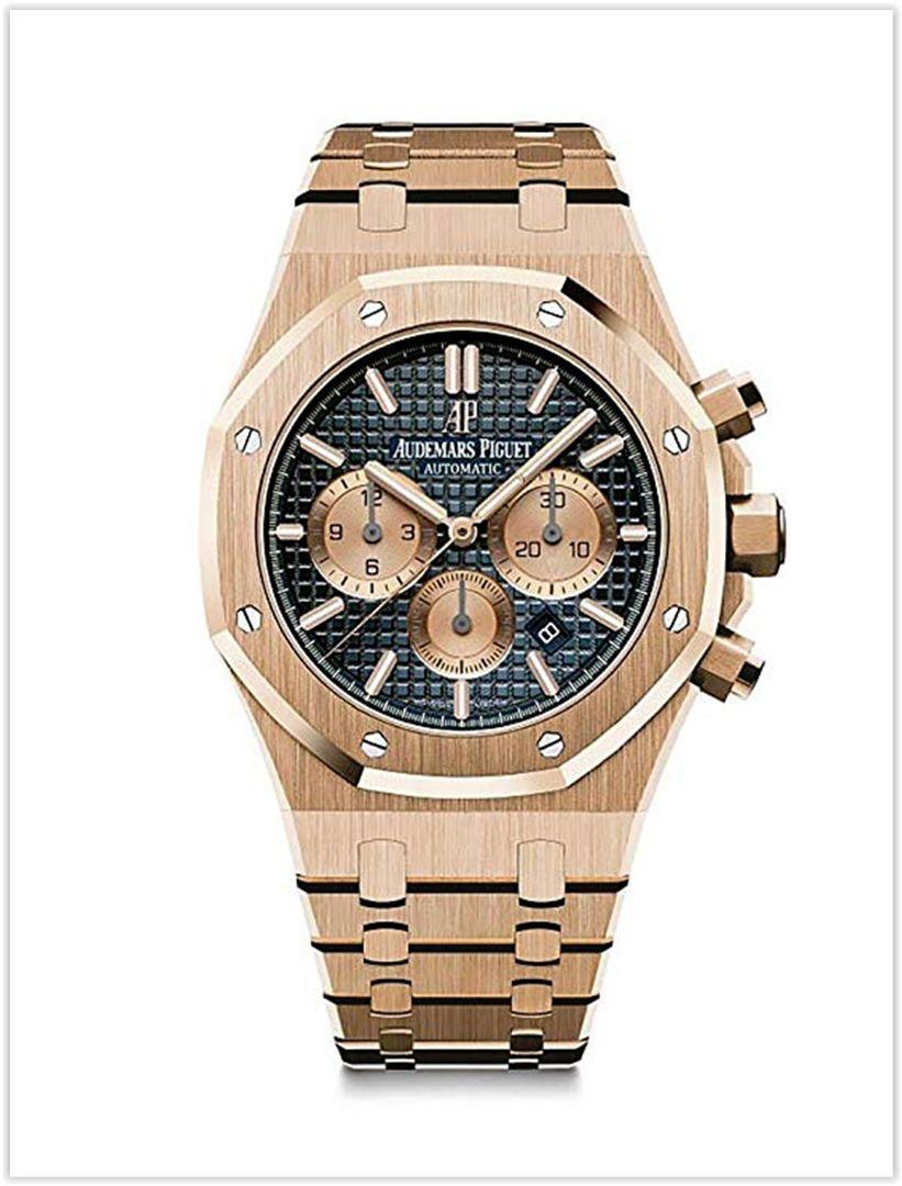 a825a9ed606 Audemars Piguet AP Royal Oak Chronograph Novelty 41 Rose Gold Blue Dial  Men s Watch price
