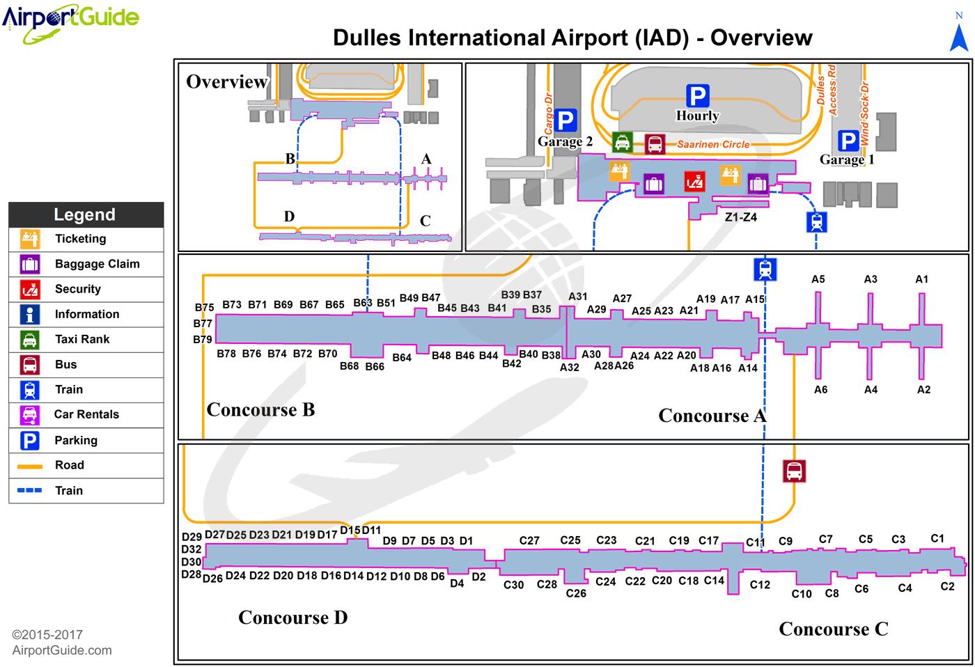 washington dulles airport terminal map Washington Washington Dulles International Iad Airport washington dulles airport terminal map
